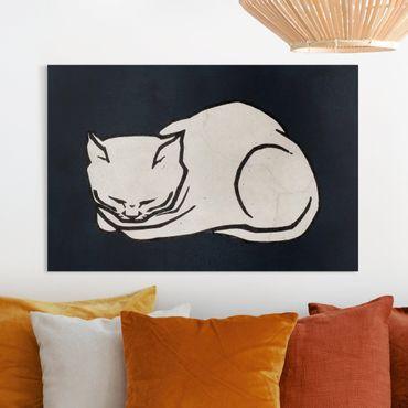 Stampa su tela - Illustrazione di gatto che dorme  - Orizzontale 3:2