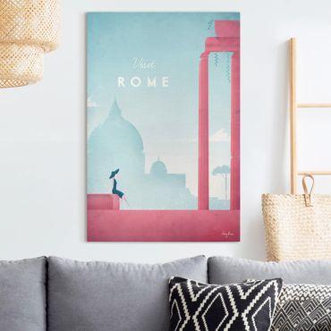 Stampa su tela - Poster Travel - Rome - Verticale 3:2