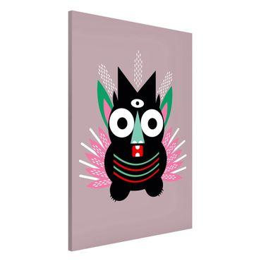 Lavagna magnetica - Collage Ethno mostro - Claw - Formato verticale 2:3
