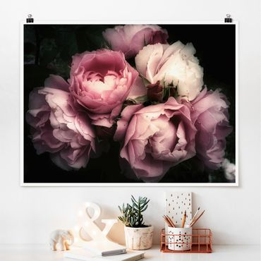 Poster - Peony In The Dark Shabby - Orizzontale 3:4