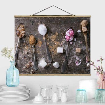 Foto su tessuto da parete con bastone - Vintage cucchiaio di zucchero - Orizzontale 3:4