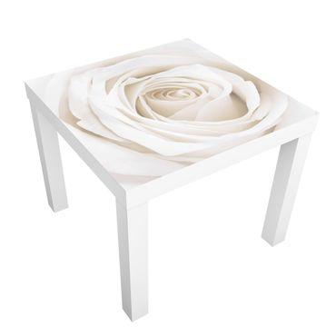 Carta adesiva per mobili IKEA - Lack Tavolino Pretty White Rose