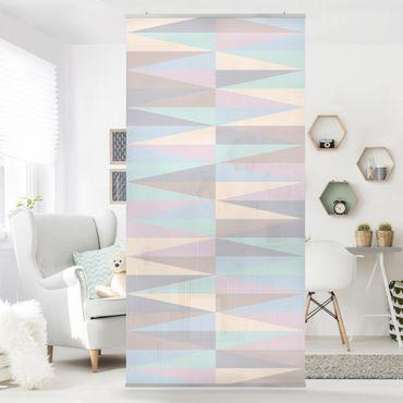 Tenda a pannello - Triangles in pastel colours 250x120cm
