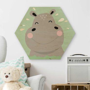 Esagono in legno - The Happy Hippo
