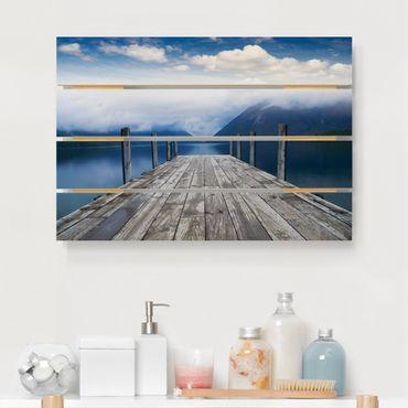 Stampa su legno - Nelson Parco nazionale dei laghi Nuova Zelanda - Orizzontale 2:3