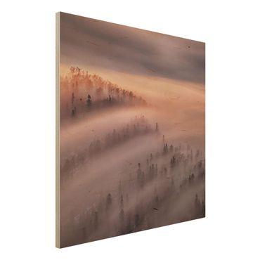 Quadro in legno - Nebbia Flood - Quadrato 1:1
