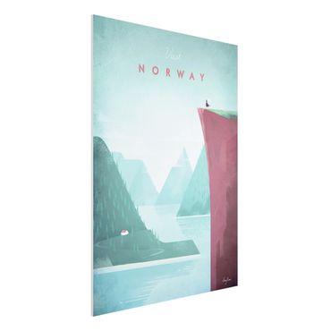 Stampa su Forex - Poster di viaggio - Norvegia - Verticale 4:3