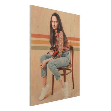 Stampa su legno - Retro Mona Lisa - Verticale 4:3