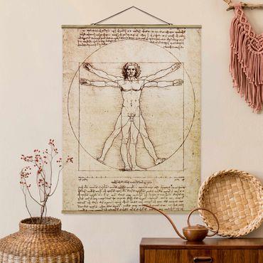 Foto su tessuto da parete con bastone - da Vinci - Verticale 4:3