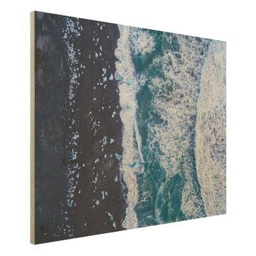 Quadro in legno - Veduta aerea - Jökulsárlón in Islanda verticalmente - Orizzontale 4:3