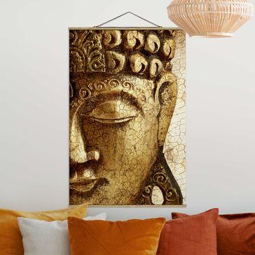 Foto su tessuto da parete con bastone - Vintage Buddha - Verticale 3:2