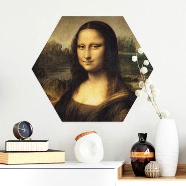 Esagono in Alu-dibond - Leonardo Da Vinci - Monna Lisa