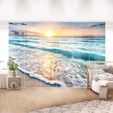 Tende scorrevoli set - Sunset At The Beach
