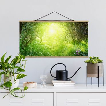 Foto su tessuto da parete con bastone - Sogno Magic Forest - Orizzontale 1:2
