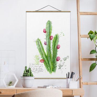 Foto su tessuto da parete con bastone - Cactus Con Bible Verses II - Verticale 3:2
