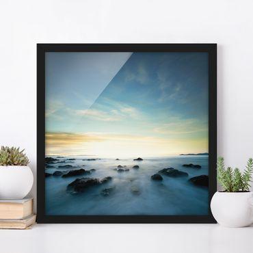 Poster con cornice - Sunset Over The Ocean - Quadrato 1:1