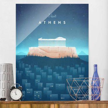 Quadro in vetro - Poster di viaggio - Atene - Verticale 4:3