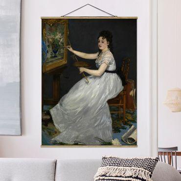 Foto su tessuto da parete con bastone - Edouard Manet - Eva Gonzalès - Verticale 4:3