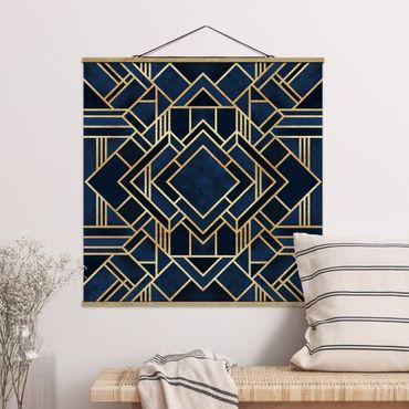 Foto su tessuto da parete con bastone - Elisabeth Fredriksson - Art Deco oro - Quadrato 1:1