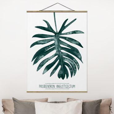 Foto su tessuto da parete con bastone - Emerald Philodendron Angustisectum - Verticale 4:3