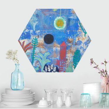 Esagono in Alu-dibond - Paul Klee - Sunken Paesaggio