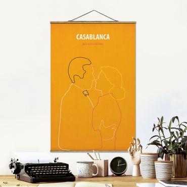 Foto su tessuto da parete con bastone - Film Poster Casablanca - Verticale 3:2