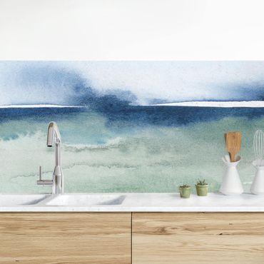 Rivestimento cucina - Onde dell'oceano I