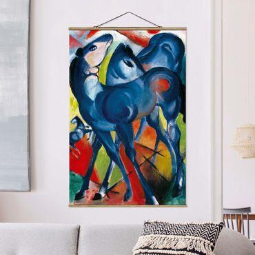 Foto su tessuto da parete con bastone - Franz Marc - The Blue Foals - Verticale 3:2