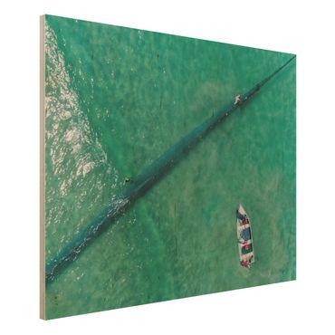 Quadro in legno - Veduta aerea - Pescatori - Orizzontale 4:3
