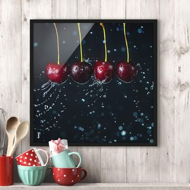 Poster con cornice - Fresh Cherries - Quadrato 1:1