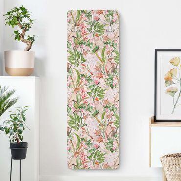 Appendiabiti - Rosa Cacatua con fiori