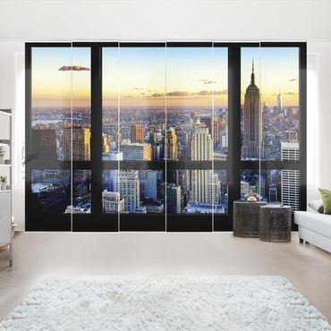 Tende scorrevoli set - Window View - Sunrise New York