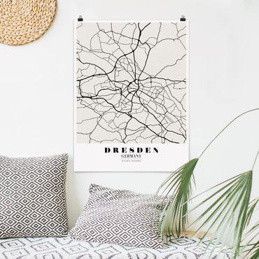 Poster - Mappa di Dresda - Classica - Verticale 4:3