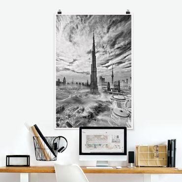 Poster - Dubai Super Skyline - Verticale 3:2