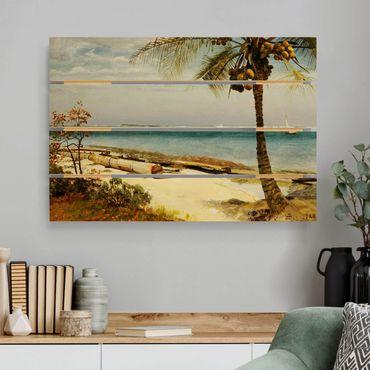 Stampa su legno - Albert Bierstadt - Costa nei tropici - Orizzontale 2:3