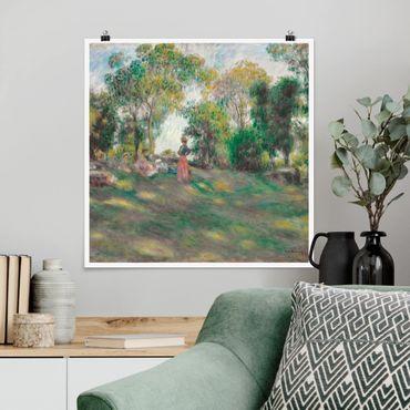 Poster - Auguste Renoir - Paesaggio con figure - Quadrato 1:1