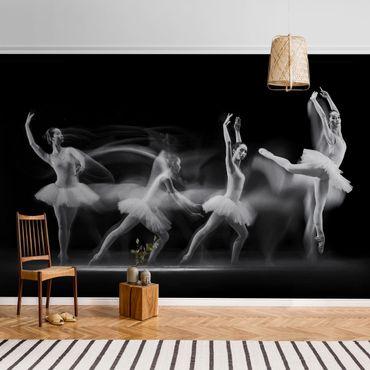 Carta da parati metallizzata - Ballerina Art Wave