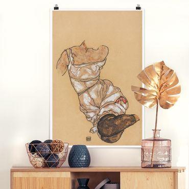 Poster - Egon Schiele - Torso femminile in biancheria intima - Verticale 3:2