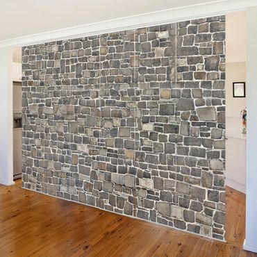 Tende scorrevoli set - Crushed Stone Wallpaper Stone Wall