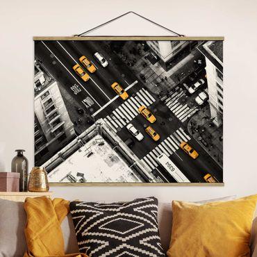 Foto su tessuto da parete con bastone - I taxi di New York - Orizzontale 3:4