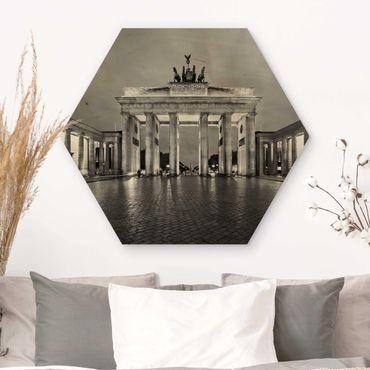 Esagono in legno - Illuminated Brandenburg Gate II