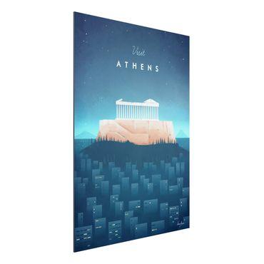 Stampa su alluminio - Poster di viaggio - Atene - Verticale 4:3