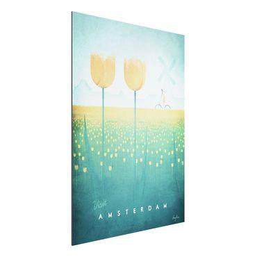 Stampa su alluminio - Poster viaggio - Amsterdam - Verticale 4:3