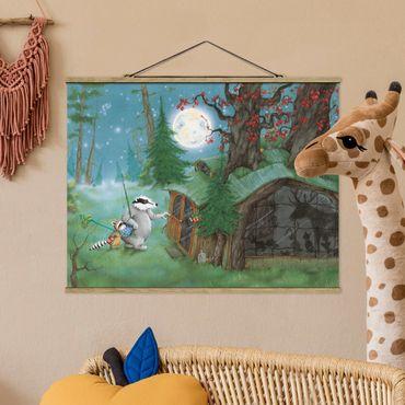 Foto su tessuto da parete con bastone - Procione Wassili - Wassili sulla strada di casa