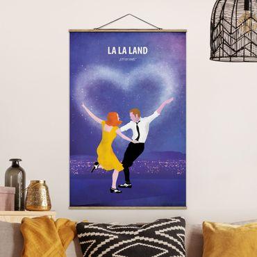 Foto su tessuto da parete con bastone - Locandina cinematografica La La Land - Verticale 3:2