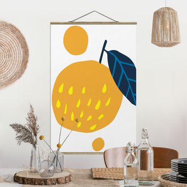 Foto su tessuto da parete con bastone - Forme astratte - arancione - Verticale 3:2