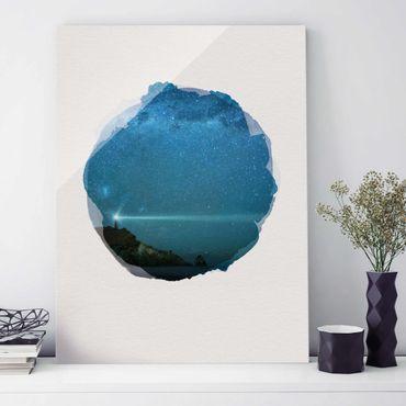 Quadro in vetro - Acquerelli - Faro - Verticale 4:3