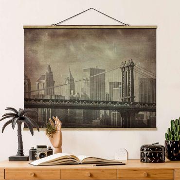 Foto su tessuto da parete con bastone - Vintage New York - Orizzontale 3:4