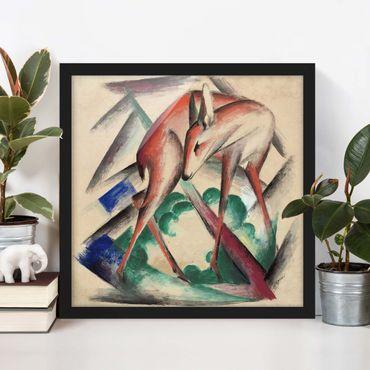 Poster con cornice - Franz Marc - Deer - Quadrato 1:1