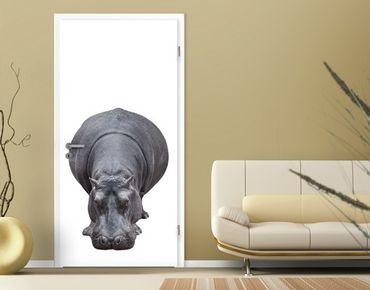 "Carta da parati per porte no.43 ""BIG HIPPO"" 100x210cm"